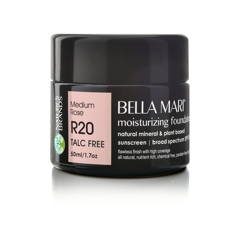 Bella Mari Natural Moisturizing Foundation - Bella Mari Natural Moisturizing Foundation - Full Size (50ml/1.7floz) Glass Jar Medium Rose