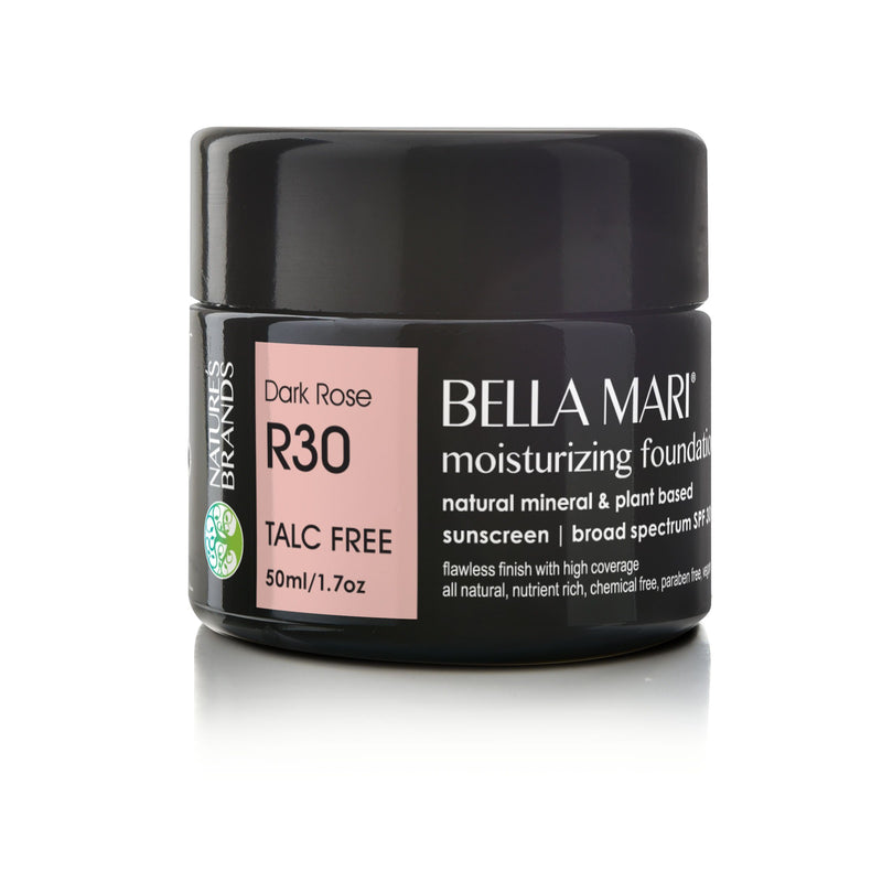 Bella Mari Natural Moisturizing Foundation - Bella Mari Natural Moisturizing Foundation - Full Size (50ml/1.7floz) Glass Jar Dark Rose