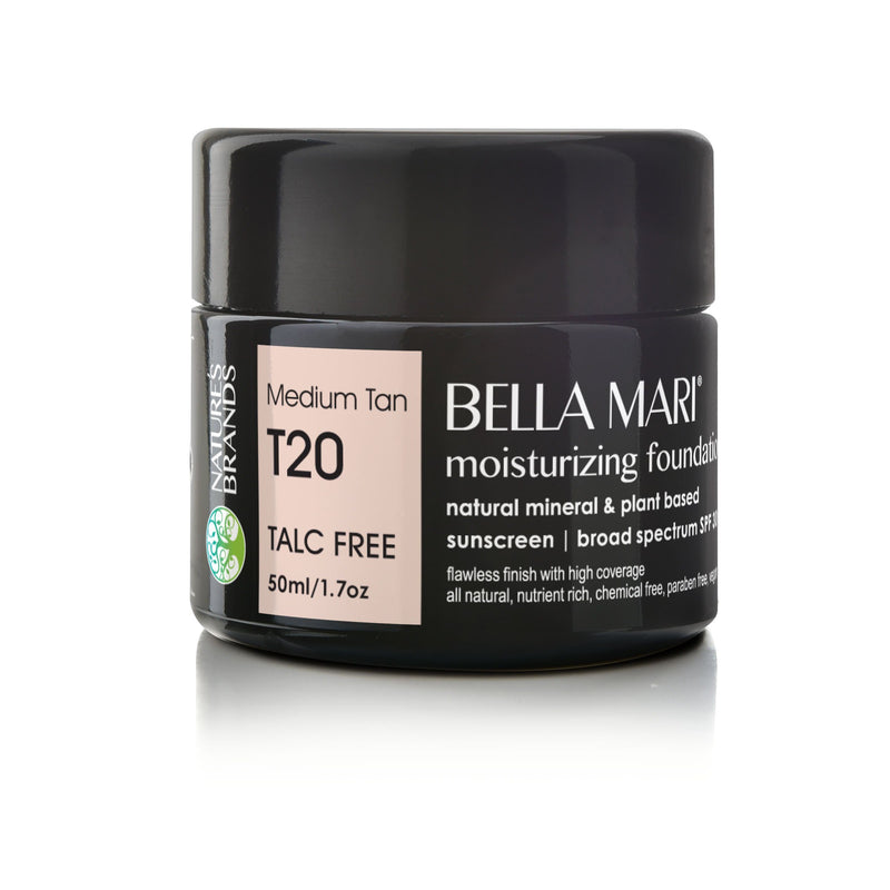 Bella Mari Natural Moisturizing Foundation - Bella Mari Natural Moisturizing Foundation - Full Size (50ml/1.7floz) Glass Jar Medium Tan