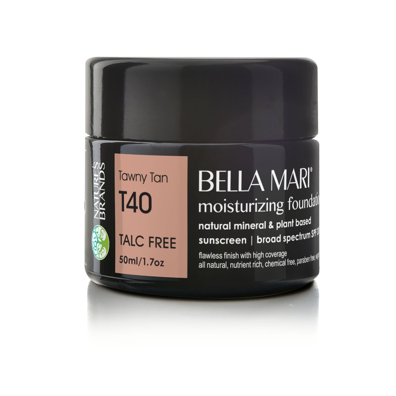 Bella Mari Natural Moisturizing Foundation - Bella Mari Natural Moisturizing Foundation - Full Size (50ml/1.7floz) Glass Jar Tawny Tan