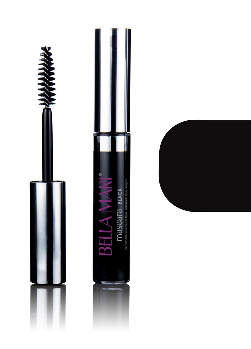 Bella Mari Natural Mascara; 0.4oz - Bella Mari Natural Mascara; 0.4oz - Black