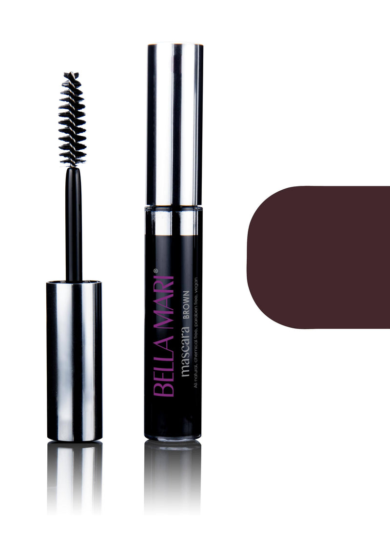 Bella Mari Natural Mascara; 0.4oz - Bella Mari Natural Mascara; 0.4oz - Brown