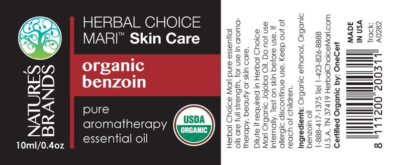 Herbal Choice Mari Organic Benzoin Essential Oil; 0.3floz Glass - Herbal Choice Mari Organic Benzoin Essential Oil; 0.3floz Glass - Herbal Choice Mari Organic Benzoin Essential Oil; 0.3floz Glass