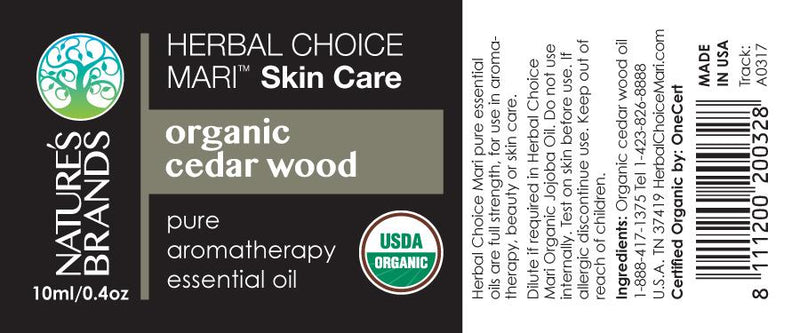 Herbal Choice Mari Organic Cedar Wood Essential Oil; 0.3floz Glass - Herbal Choice Mari Organic Cedar Wood Essential Oil; 0.3floz Glass - Herbal Choice Mari Organic Cedar Wood Essential Oil; 0.3floz Glass