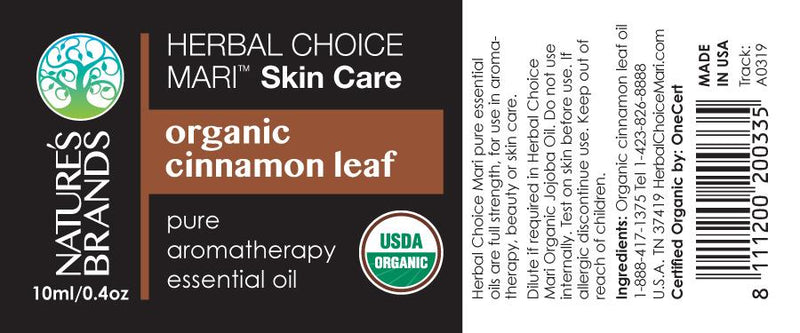 Herbal Choice Mari Organic Cinnamon Leaf Essential Oil; 0.3floz Glass - Herbal Choice Mari Organic Cinnamon Leaf Essential Oil; 0.3floz Glass - Herbal Choice Mari Organic Cinnamon Leaf Essential Oil; 0.3floz Glass