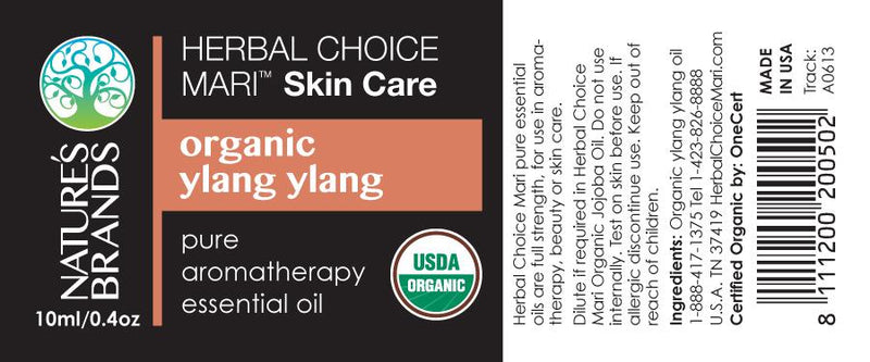 Herbal Choice Mari Organic Ylang Ylang Essential Oil; 0.3floz Glass - Herbal Choice Mari Organic Ylang Ylang Essential Oil; 0.3floz Glass - Herbal Choice Mari Organic Ylang Ylang Essential Oil; 0.3floz Glass