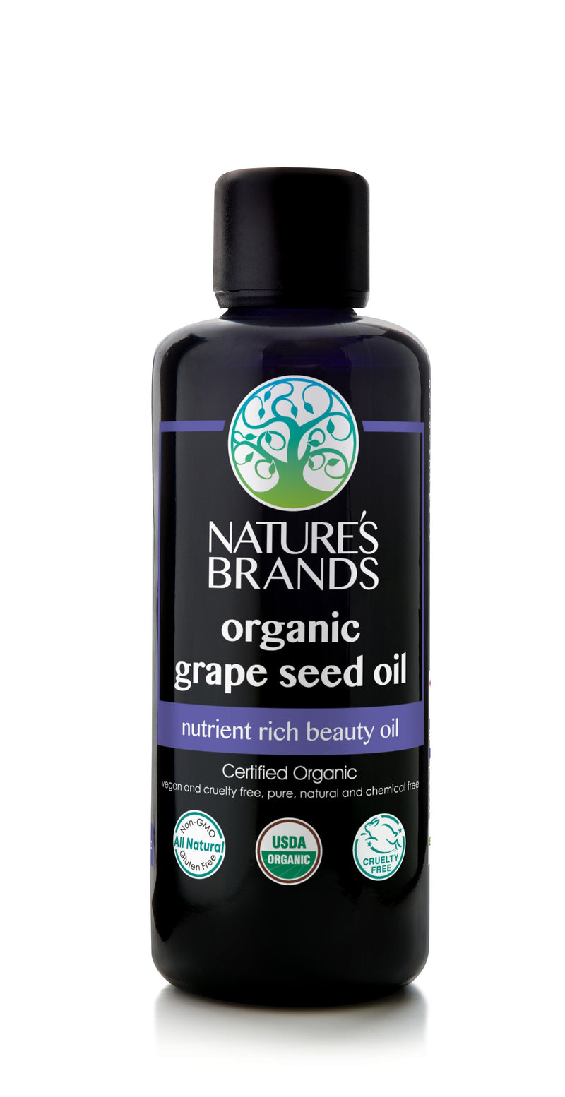 Herbal Choice Mari Organic Grape Seed Oil 100ml/3.4oz Glass Bottle