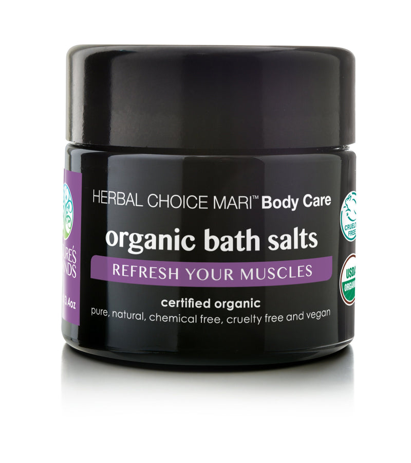 Herbal Choice Mari Organic Bath Salts, Refresh Your Muscles - Herbal Choice Mari Organic Bath Salts, Refresh Your Muscles - 3.4floz