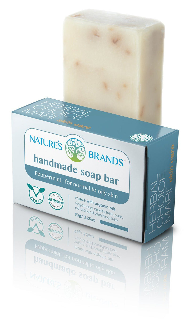Herbal Choice Mari Natural Handmade Soap Bar, Peppermint; 3.2oz - Herbal Choice Mari Natural Handmade Soap Bar, Peppermint; 3.2oz - Herbal Choice Mari Natural Handmade Soap Bar, Peppermint; 3.2oz