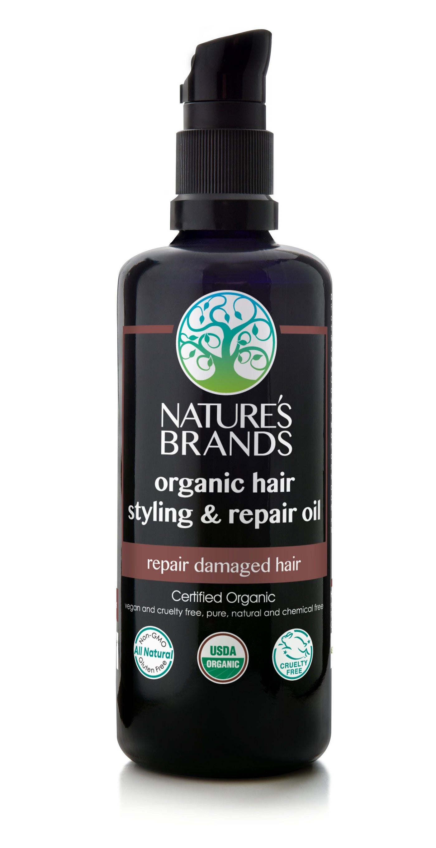 hair styling oil herbal choice mari organic hair styling amp repair 8158 | NB HCB HA 0620 Herbal Choice Mari Organic Hair Styling Repair Oil 100ml 3.4oz Glass Pump Bottle 1400x