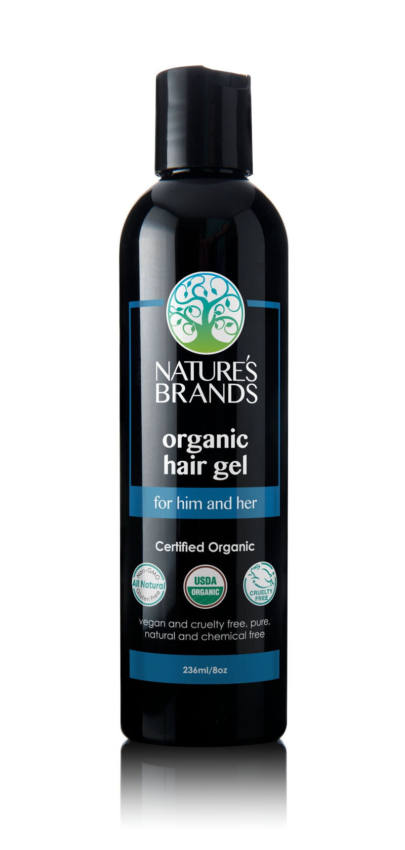 Herbal Choice Mari Organic Hair Gel - Herbal Choice Mari Organic Hair Gel - Plastic Bottle (236ml/8oz)