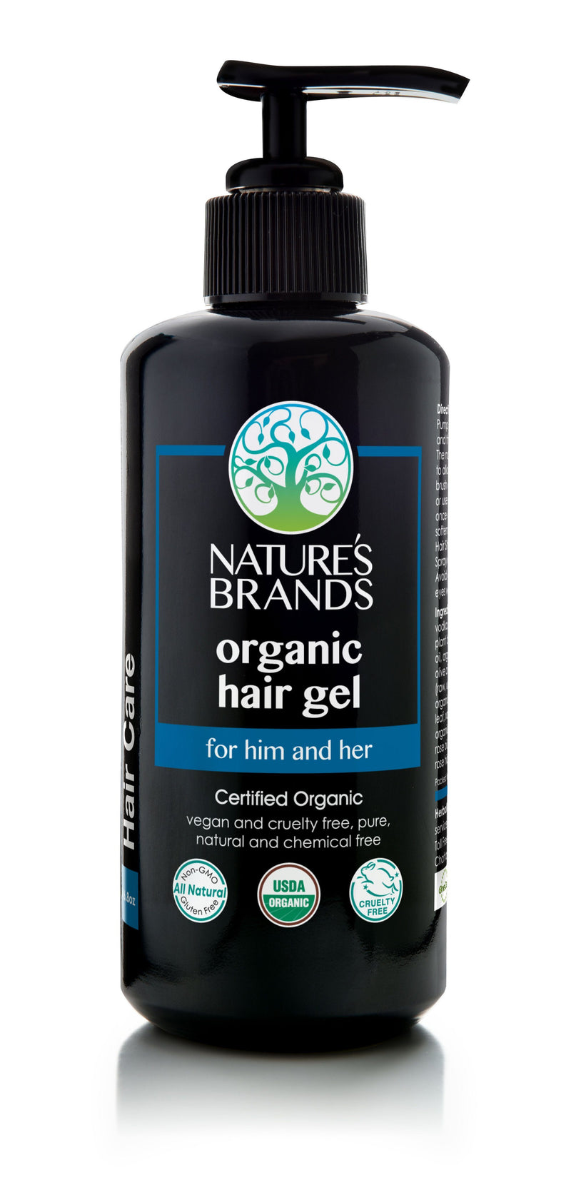 Herbal Choice Mari Organic Hair Gel - Herbal Choice Mari Organic Hair Gel - Glass Bottle (200ml/6.8oz)