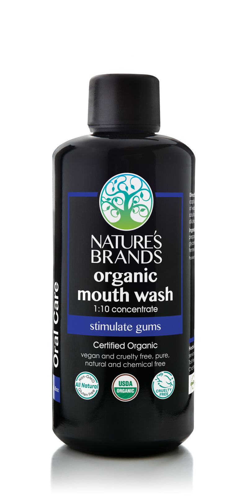 Organic Mouth Wash 1:10 Concentrate - Organic Mouth Wash 1:10 Concentrate - Full Size (200ml/6.8oz)