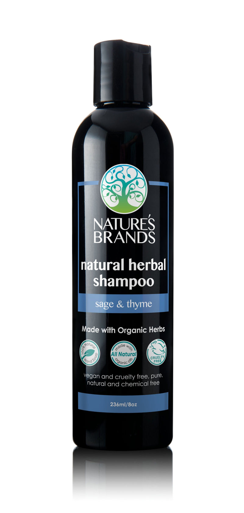 Herbal Choice Mari Natural Shampoo, Sage & Thyme; Made with Organic - Herbal Choice Mari Natural Shampoo, Sage & Thyme; Made with Organic - 8floz