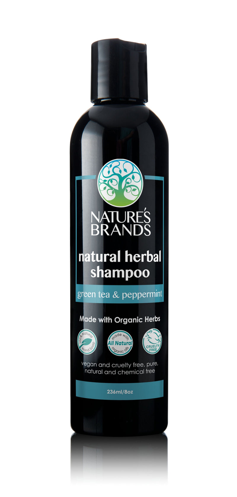 Herbal Choice Mari Natural Shampoo, Green Tea & Peppermint; Made with Organic - Herbal Choice Mari Natural Shampoo, Green Tea & Peppermint; Made with Organic - 8floz