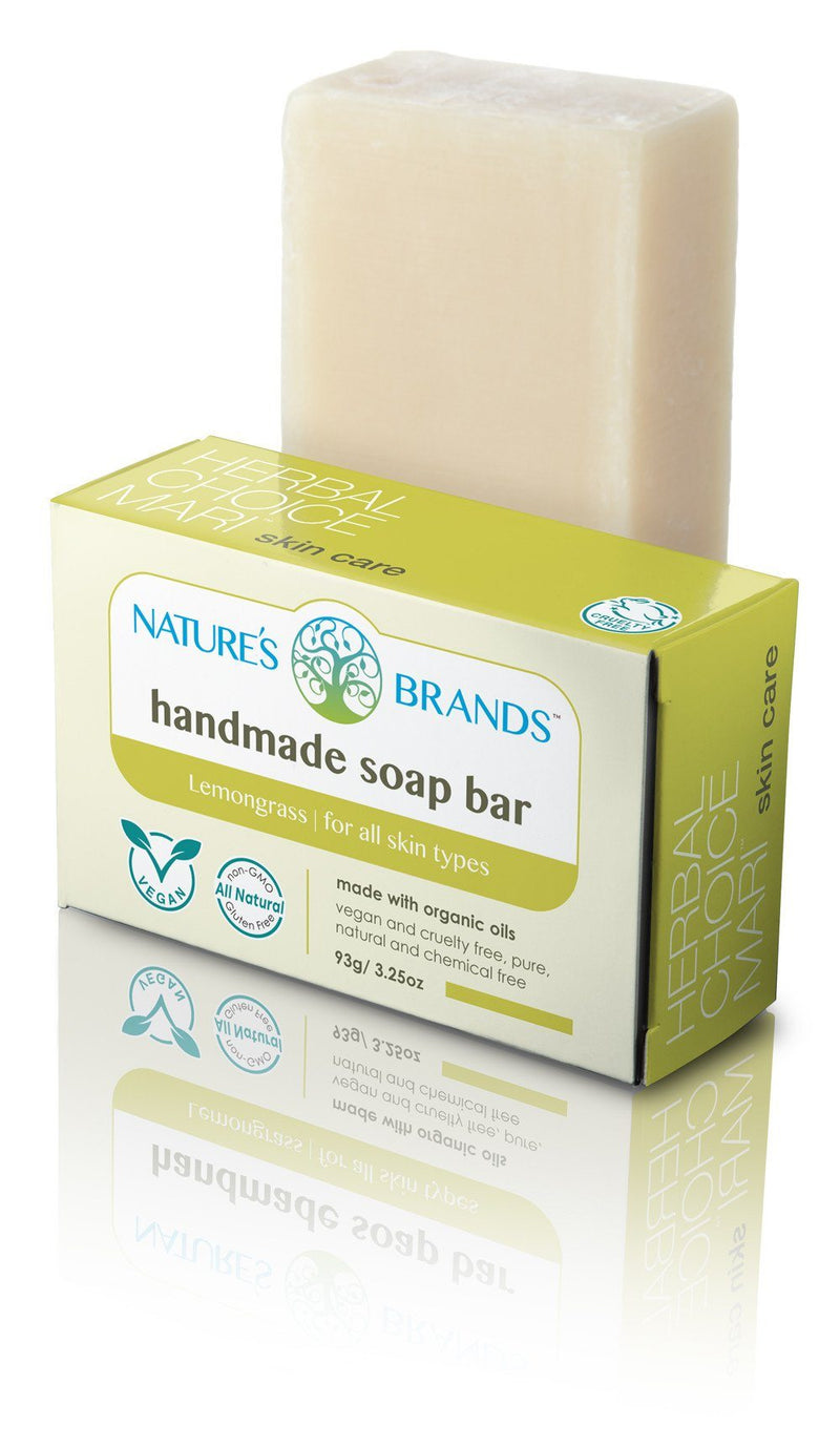 Herbal Choice Mari Natural Handmade Soap Bar, Lemongrass; 3.2oz - Herbal Choice Mari Natural Handmade Soap Bar, Lemongrass; 3.2oz - Herbal Choice Mari Natural Handmade Soap Bar, Lemongrass; 3.2oz