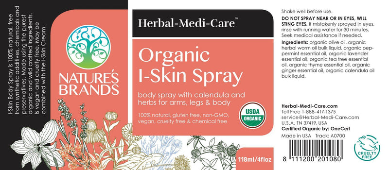 Herbal-Medi-Care Organic I-Skin (Itchy) Spray; 4floz - Herbal-Medi-Care Organic I-Skin (Itchy) Spray; 4floz - Herbal-Medi-Care Organic I-Skin (Itchy) Spray; 4floz