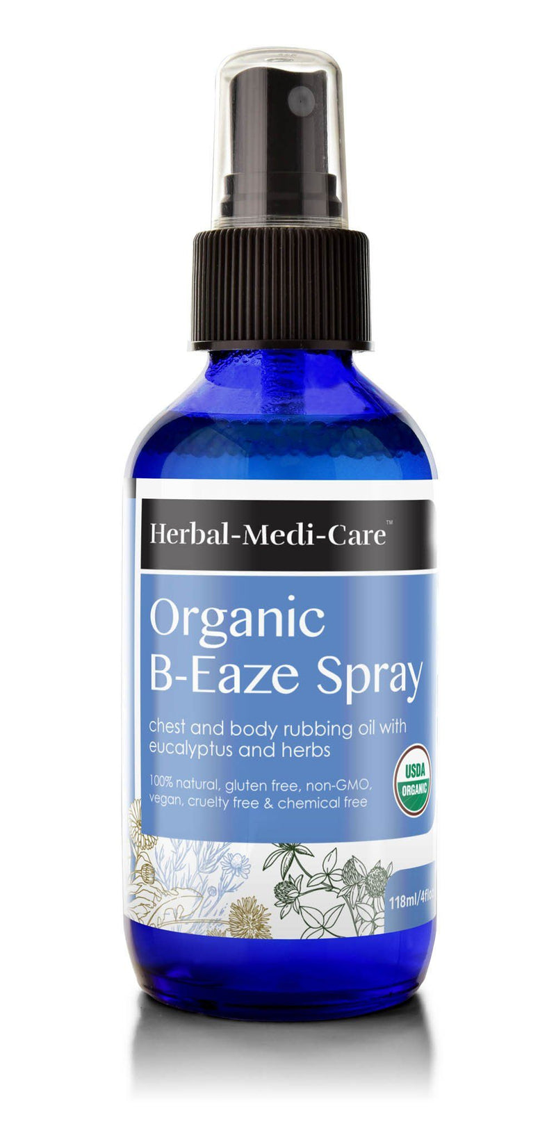 Herbal-Medi-Care Organic B-Eaze (Congestion) Spray; 4floz - Herbal-Medi-Care Organic B-Eaze (Congestion) Spray; 4floz - Herbal-Medi-Care Organic B-Eaze (Congestion) Spray; 4floz
