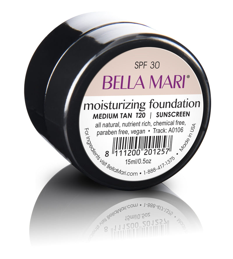 Bella Mari Natural Moisturizing Foundation - Bella Mari Natural Moisturizing Foundation - 0.5floz Glass Jar Medium Tan