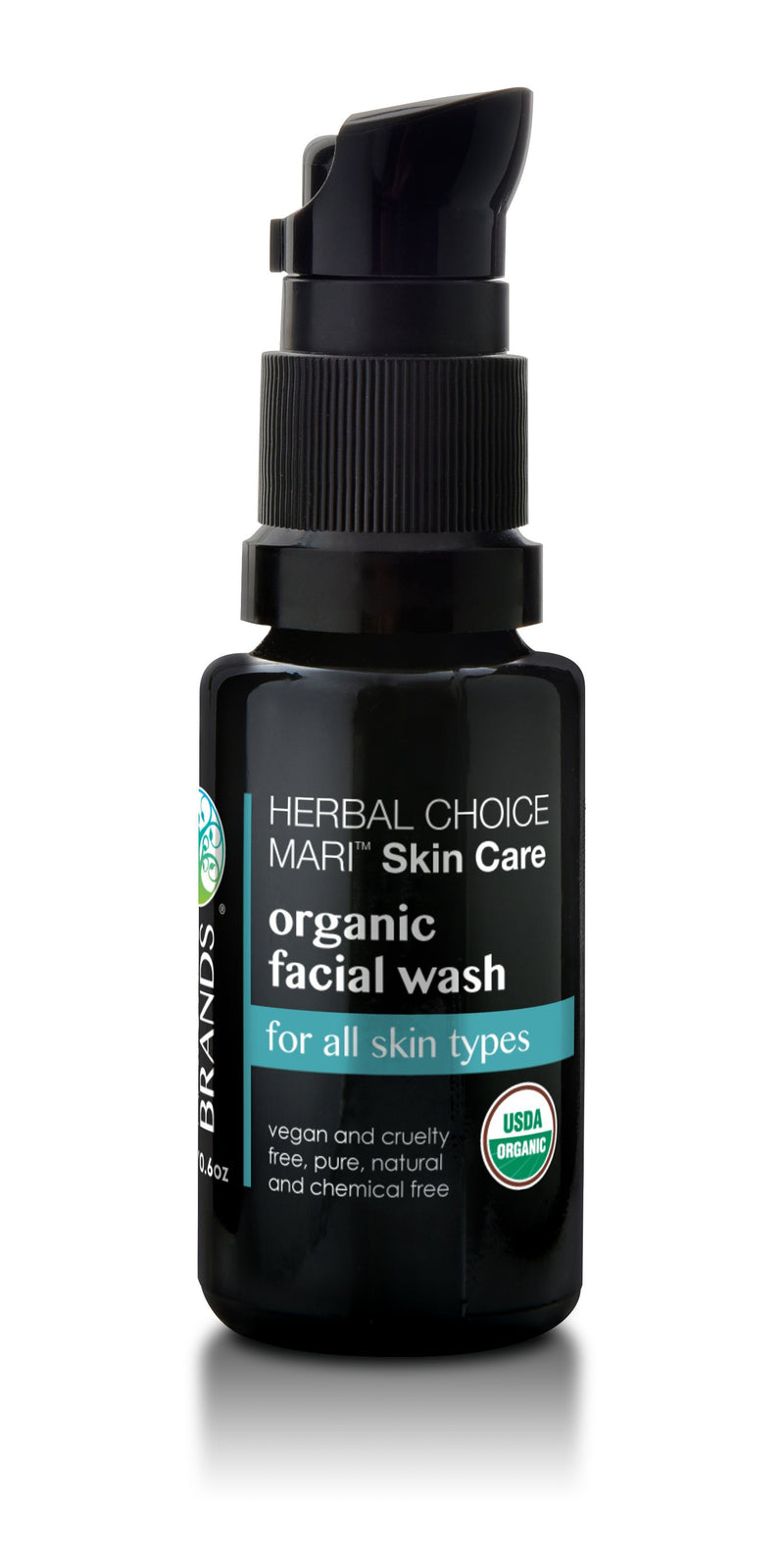 Herbal Choice Mari Organic Facial Wash, Moisturizing for All Skin Types - Herbal Choice Mari Organic Facial Wash, Moisturizing for All Skin Types - 0.5floz