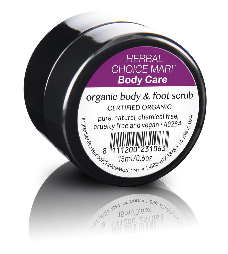 Herbal Choice Mari Organic Body & Foot Scrub - Herbal Choice Mari Organic Body & Foot Scrub - 0.5floz