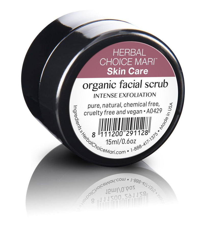 Herbal Choice Mari Organic Facial Scrub, Intense Exfoliation - Herbal Choice Mari Organic Facial Scrub, Intense Exfoliation - 0.5floz