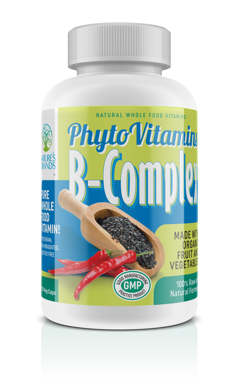 PhytoVitamins Whole Food B-Complex Vegetarian Capsules; 120-Count, Made with Organic - PhytoVitamins Whole Food B-Complex Vegetarian Capsules; 120-Count, Made with Organic - PhytoVitamins Whole Food B-Complex Vegetarian Capsules; 120-Count, Made with Organic