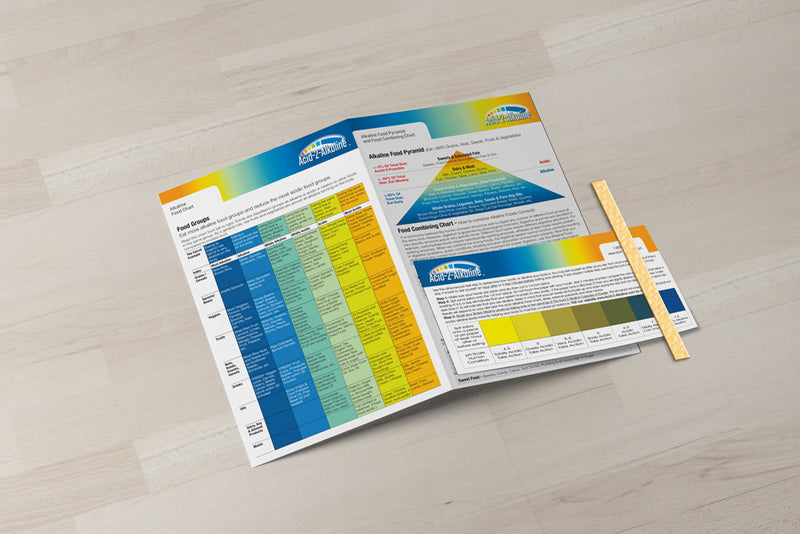 Alkaline Body Balance Informational Guide with Food Chart and FREE pH Test Strip - Alkaline Body Balance Informational Guide with Food Chart and FREE pH Test Strip - Alkaline Body Balance Informational Guide with Food Chart and FREE pH Test Strip