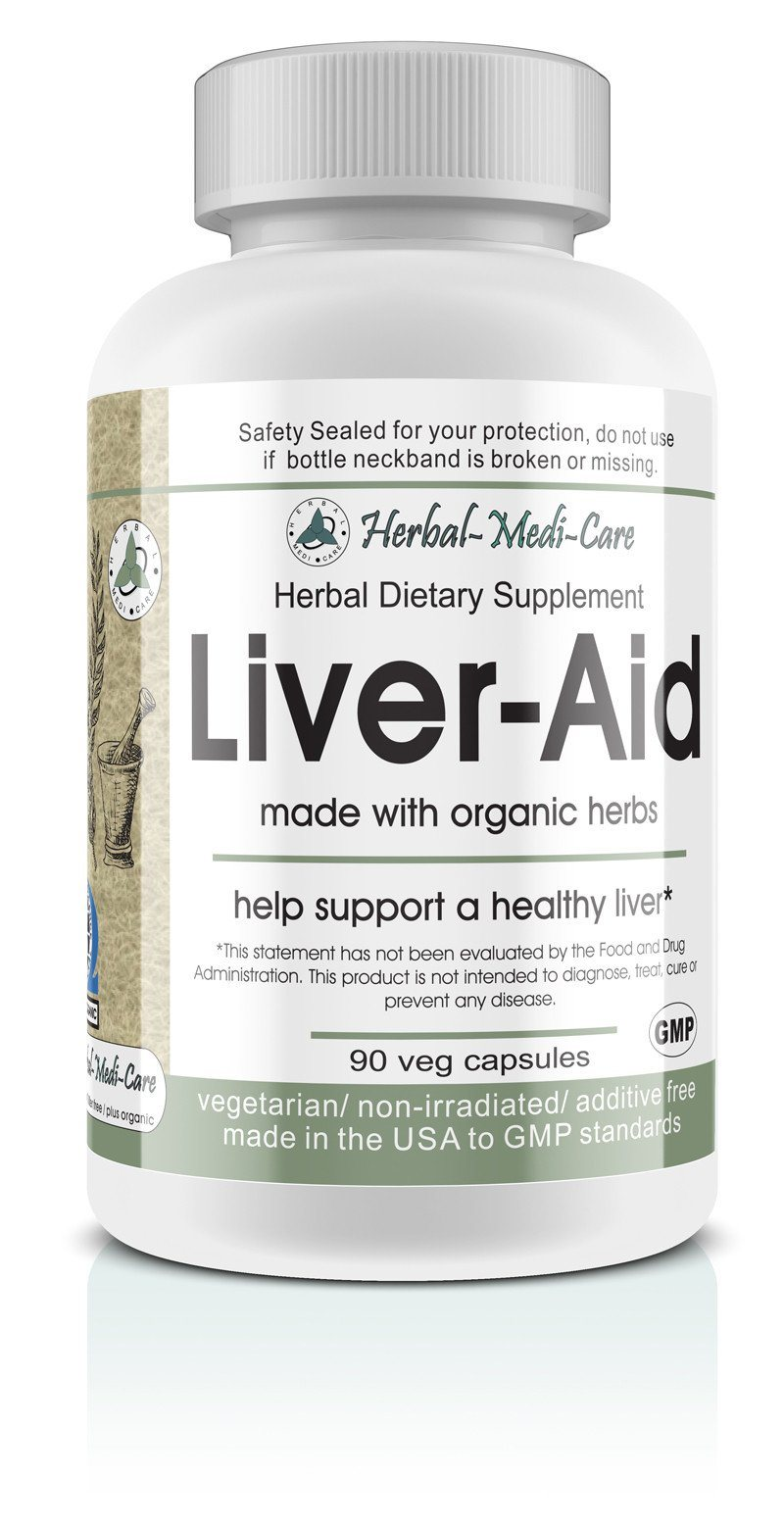 Herbal-Medi-Care Whole Food Liver-Aid Vegetarian Capsules; 90-Count, Made with Organic - Herbal-Medi-Care Whole Food Liver-Aid Vegetarian Capsules; 90-Count, Made with Organic - Herbal-Medi-Care Whole Food Liver-Aid Vegetarian Capsules; 90-Count, Made with Organic