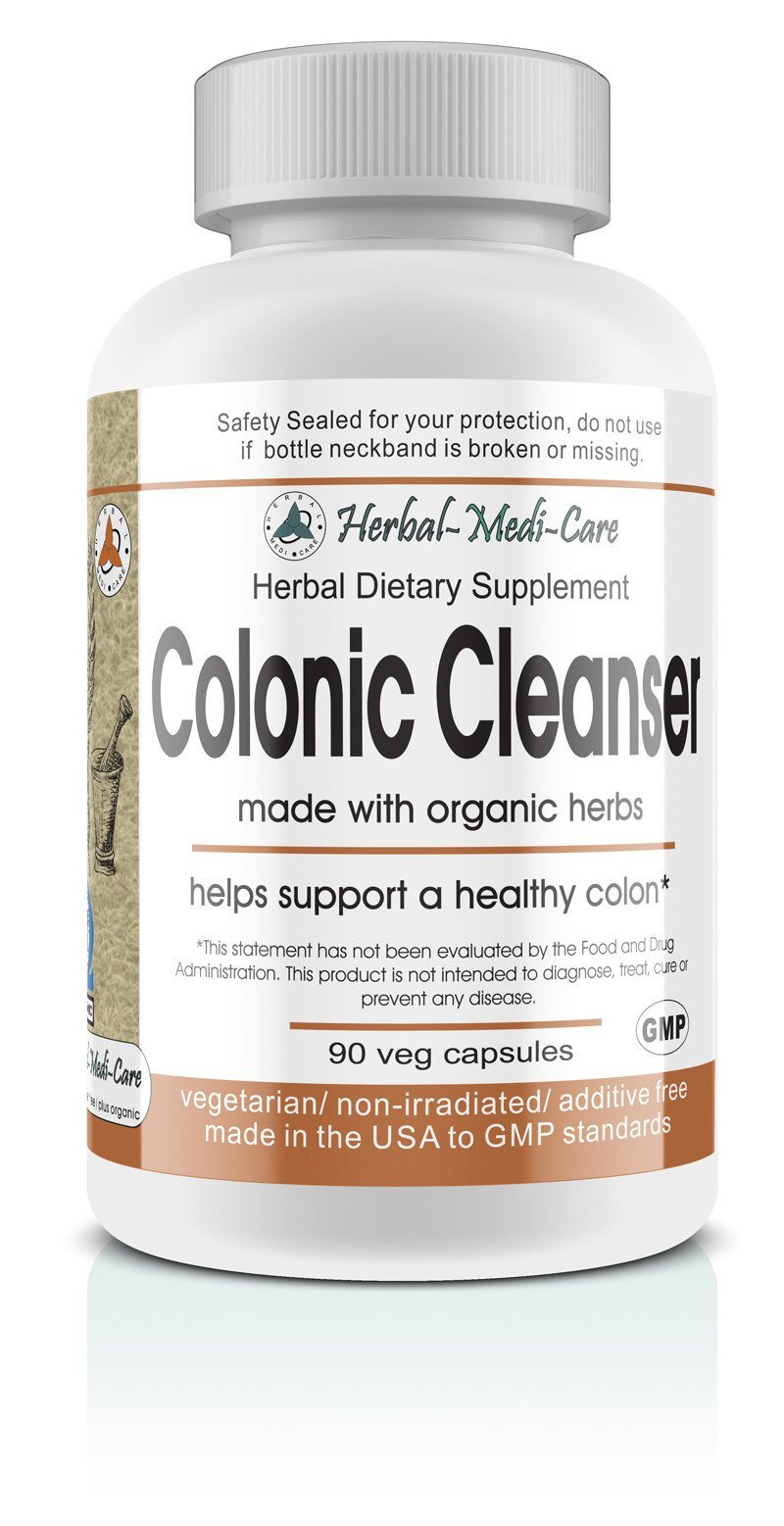 Herbal-Medi-Care Whole Food Colonic Cleanser Vegetarian Capsules; 90-Count, Made with Organic - Herbal-Medi-Care Whole Food Colonic Cleanser Vegetarian Capsules; 90-Count, Made with Organic - Herbal-Medi-Care Whole Food Colonic Cleanser Vegetarian Capsules; 90-Count, Made with Organic