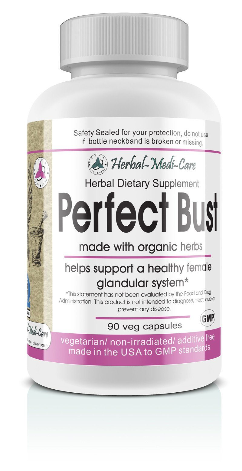 Herbal-Medi-Care Whole Food Perfect Bust (Breast Health) Vegetarian Capsules; 90-Count, Made with Organic - Herbal-Medi-Care Whole Food Perfect Bust (Breast Health) Vegetarian Capsules; 90-Count, Made with Organic - Herbal-Medi-Care Whole Food Perfect Bust (Breast Health) Vegetarian Capsules; 90-Count, Made with Organic