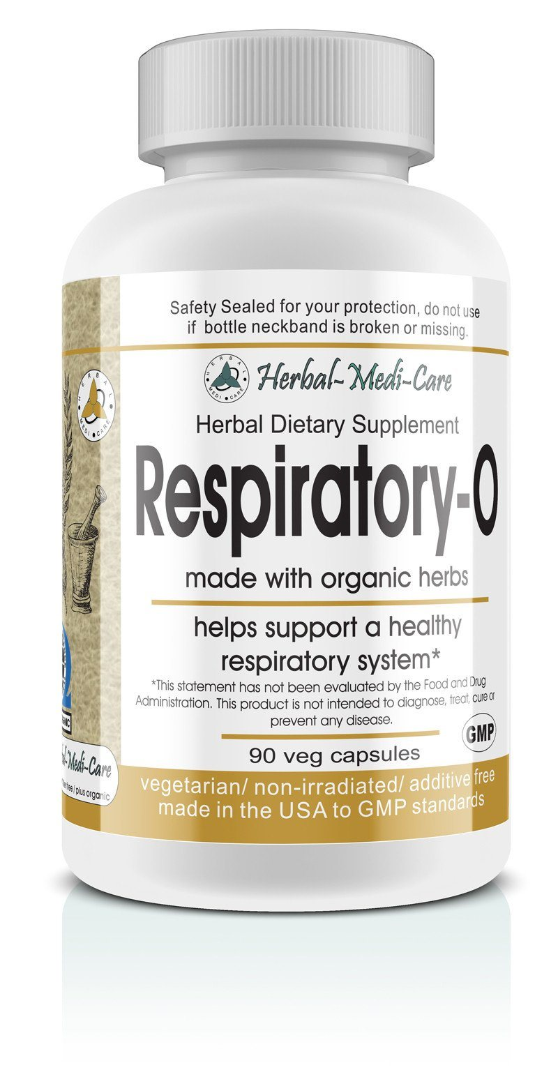 Herbal-Medi-Care Whole Food Respiratory-O (Lung) Vegetarian Capsules; 90-Count, Made with Organic - Herbal-Medi-Care Whole Food Respiratory-O (Lung) Vegetarian Capsules; 90-Count, Made with Organic - Herbal-Medi-Care Whole Food Respiratory-O (Lung) Vegetarian Capsules; 90-Count, Made with Organic