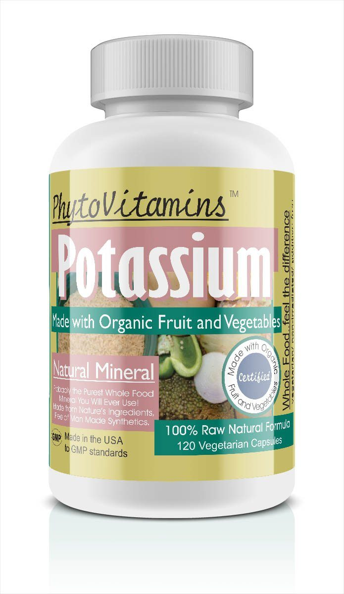 PhytoVitamins Whole Food Potassium Vegetarian Capsules; 120-Count, Made with Organic - PhytoVitamins Whole Food Potassium Vegetarian Capsules; 120-Count, Made with Organic - PhytoVitamins Whole Food Potassium Vegetarian Capsules; 120-Count, Made with Organic