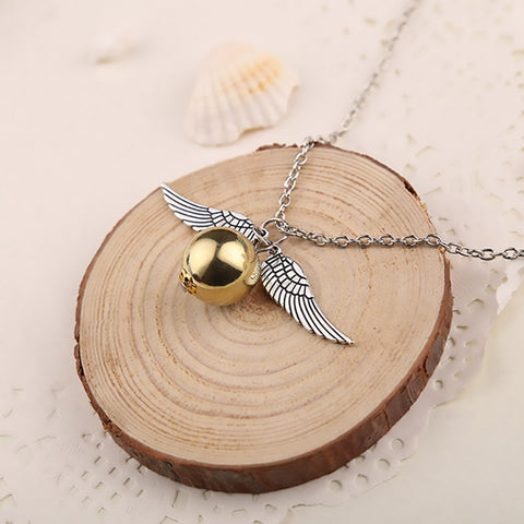 Harry Potter Golden Snitch Charm Necklace