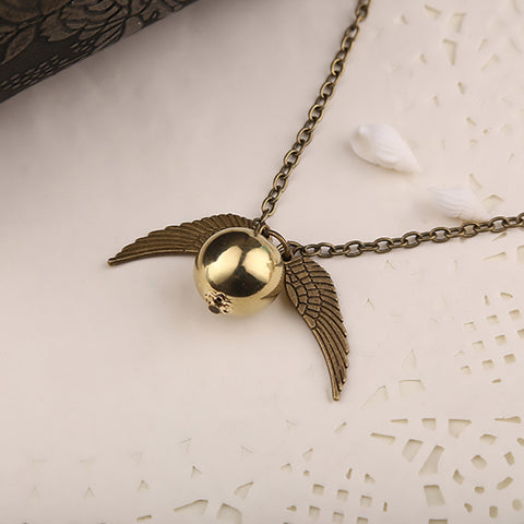 Harry Potter Golden Snitch Charm Necklace - Envy Gadgets