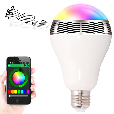 Smart Wireless Colorful Speaker-Light Bulb - Envy Gadgets