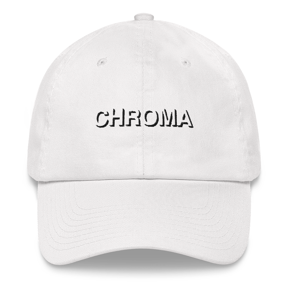 Chroma Embroidered Black Stitch Dad Hat