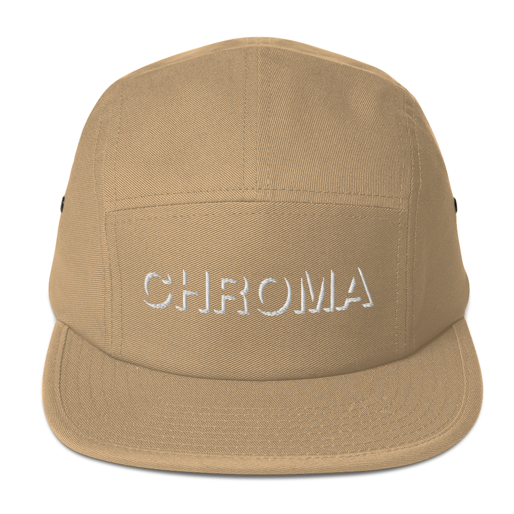 Chroma Embroidered Five Panel Hat