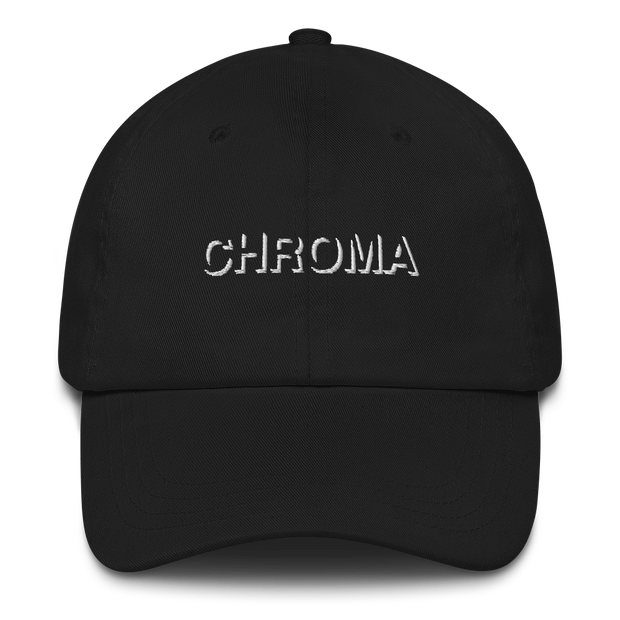 Chroma Embroidered White Stitch Dad Hat