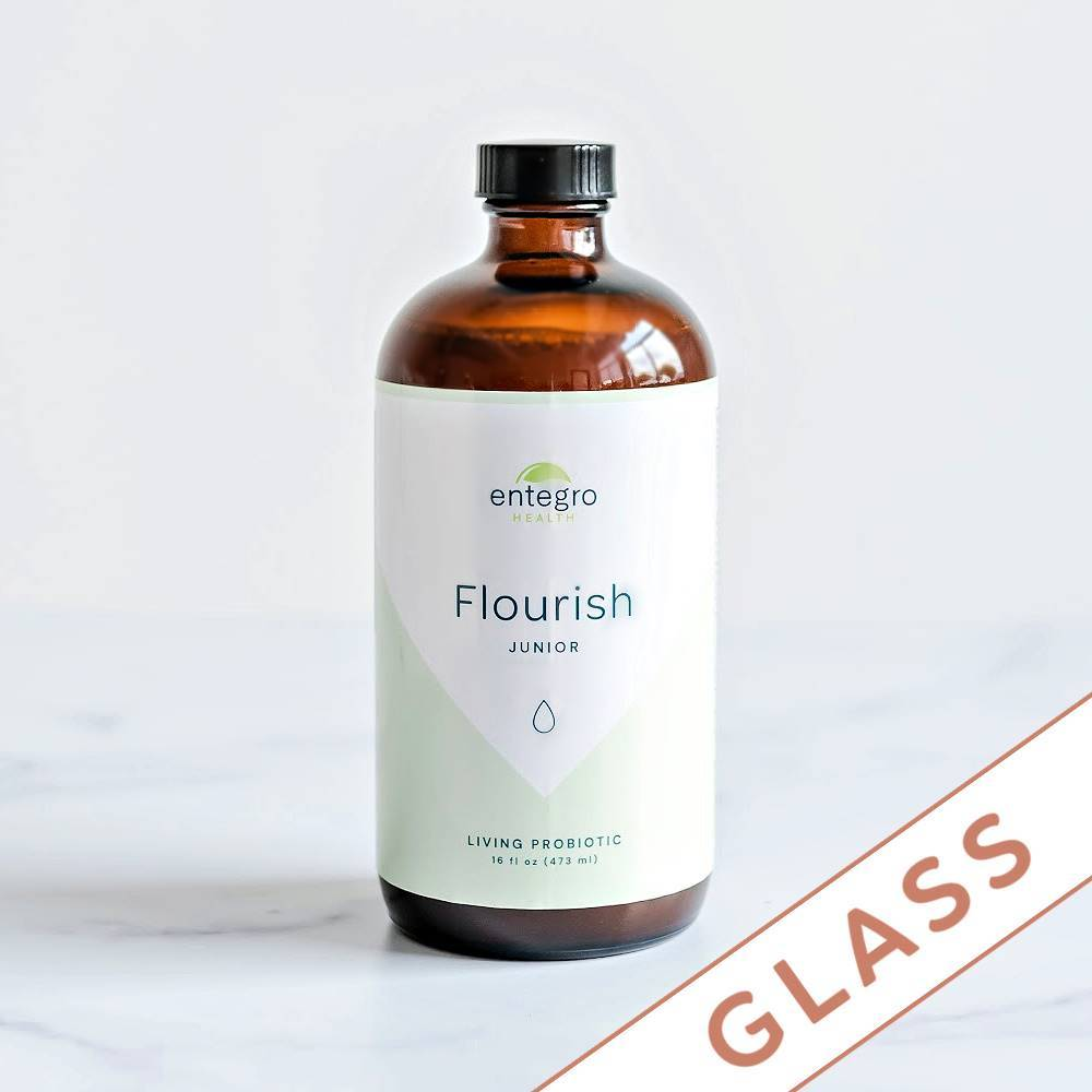 Load image into Gallery viewer, Flourish Junior Liquid Probiotic - Glass Edition