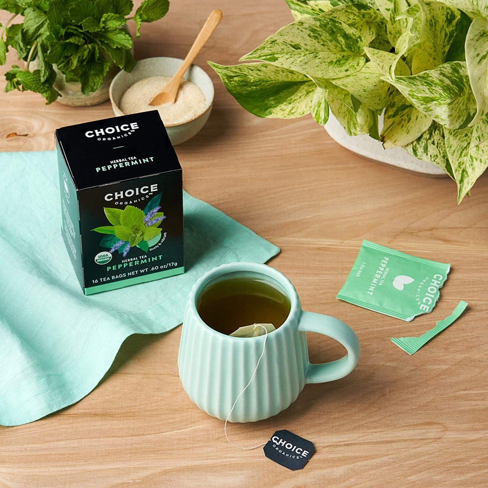 Peppermint Tea, Organic: 16 sachets