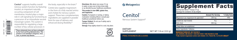 Cenitol Powder: 7.8 oz