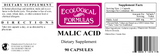 Malic Acid, 600mg (Ecological Formulas)