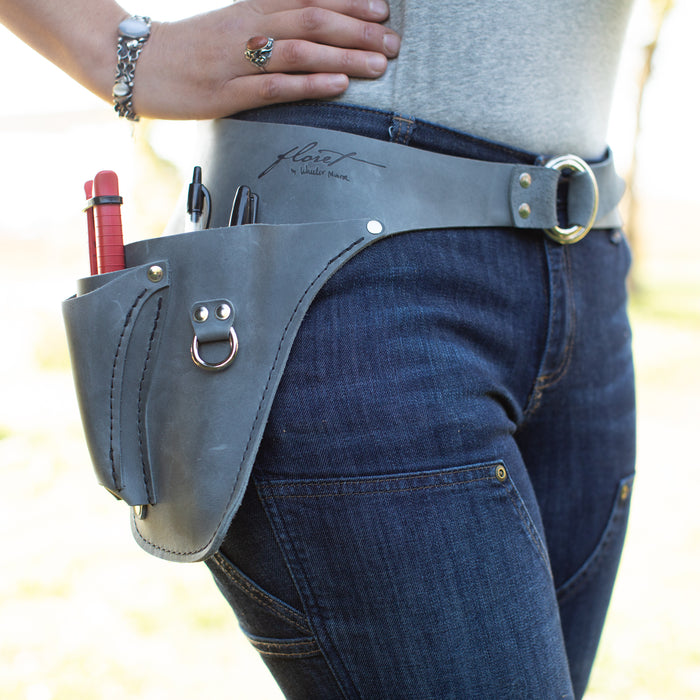 Farmer-Florist Tool Belt Grey {Right} Handed