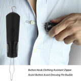 Button, Hook or Zipper Pull Dressing Aid