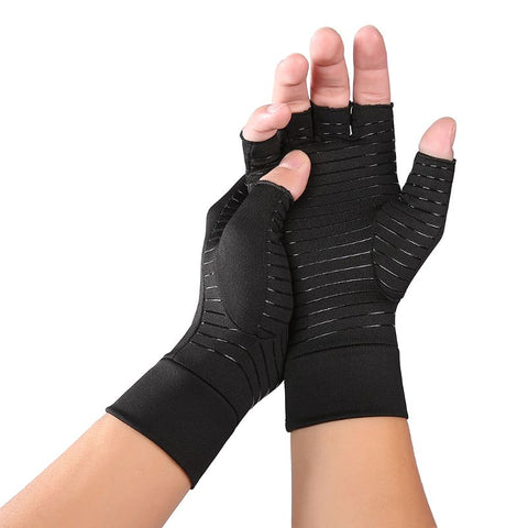 GREAT VALUE! 1 pair copper compression hand gloves