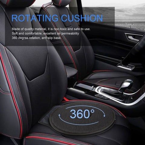 Rotating Cushion makes for easy exit from your car.