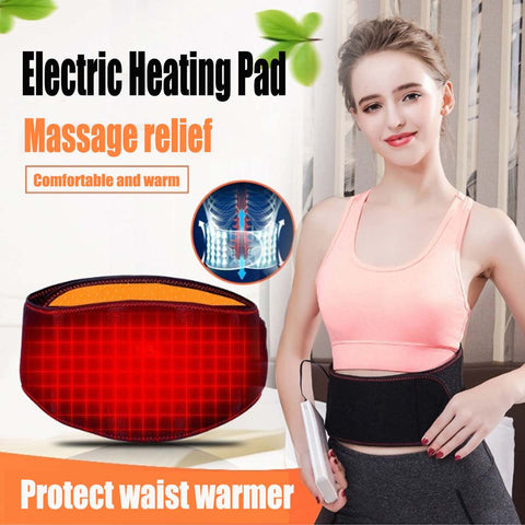Versatile back & waist electric heating pad & support