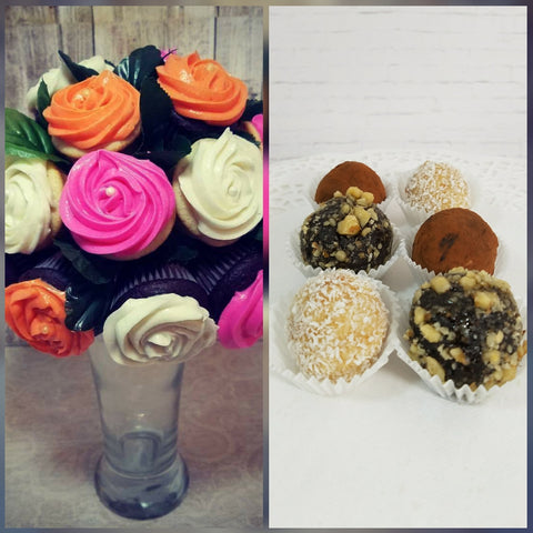 Mini Cupcake Bouquet and Assorted Cake Truffles by Silver Rose Bakery, Arizona