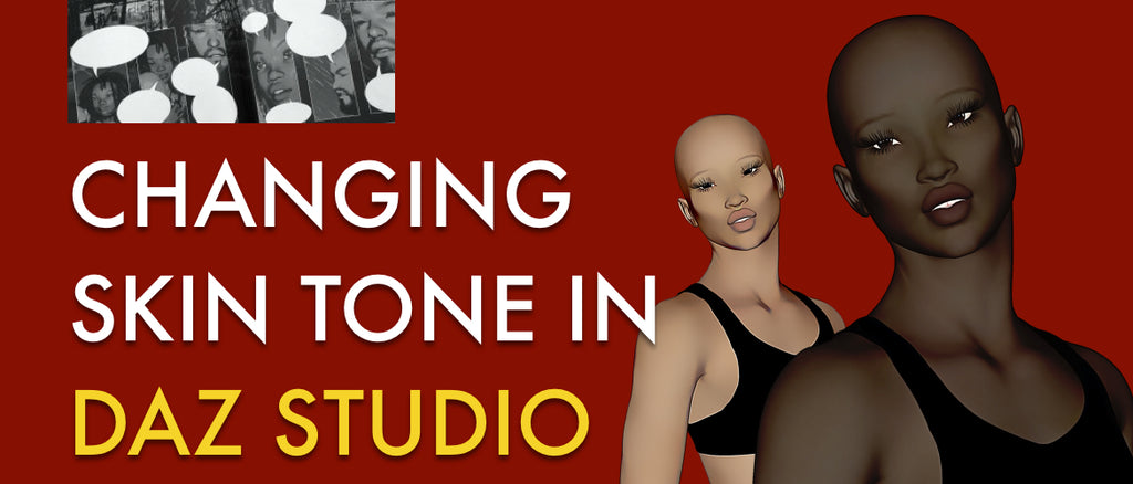 Changing skin tone in DAZ Studio